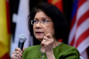 Former director-general of the Research, Treaties and International Law Department, Noor Farida Ariffin, speaks during   the Institute for Democracy and Economic Affairs (IDEAS) 5th anniversary along with commemoration of first Malaysian prime minister Tunku Abdul Rahman Putra at its his memorial in Kuala Lumpur on February 7, 2015. The Malaysian Insider/Najjua Zulkefli